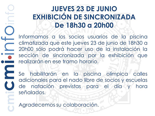cartel 23 6 exhibicion sincronizada